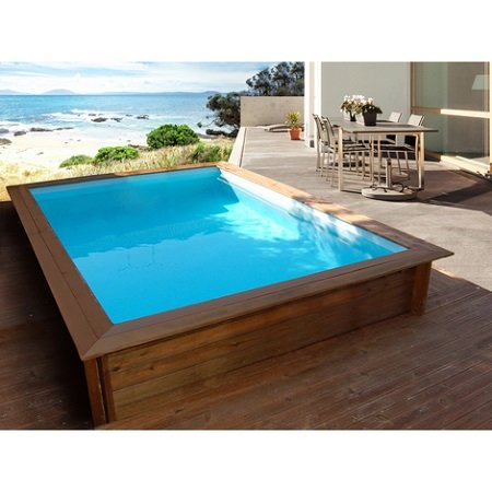 Guide comment choisir sa piscine for Piscine en bois rectangulaire semi enterree